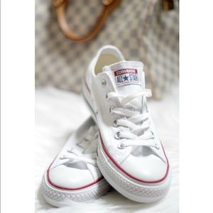 Classic White Converse Low Top Sneakers
